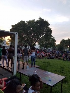 #blm954 Community Circle at the Megaphone 7.10.2016 Black Lives Matter Alliance Broward